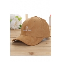 Cute Embroidery Thank You Smile Face Pattern Adjustable Baseball Cap