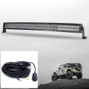 5D 42 Inch Off Road LED Light Bar CREE LED 240W 30 Degree Spot 60 Degree Flood Combo Beam Car Light For Off Road 4WD Jeep Truck ATV SUV with 1 Wire Harness