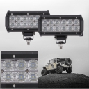 7 Inch Off Road LED Light Bar 36W 60 Degree Flood Beam Car Light For Off Road, Truck, 4WD, BOAT, JEEP, Pack of 2