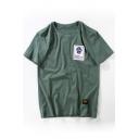 Street Style Fashion Letter Printed Short Sleeve Round Neck Unisex T-Shirt
