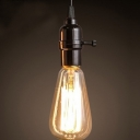 Industrial Edison Bulb Style Pendant Light in Black Finish