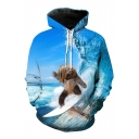 New Fashion 3D Cartoon Pattern Casual Comfort Long Sleeve Unisex Hoodie