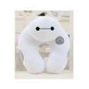 New Stylish U-Shaped Lovely Big White Printed Woolen Neck Pillow