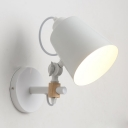 Industrial Wall Sconce Adjustable with Black Cylinder Shade, Mini Sized