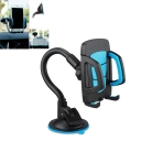 Cell Phone Holder Cradle Flexible 360 Rotating Car Mount for almost Smartphone up to 7 inches, Blue