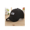Adjustable Letter Embroidery Couple Baseball Cap