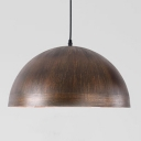 Industrial Hanging Pendant Light with Dome Shade in Brushed Old Bronze