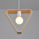 Industrial Single Pendant Light Triangle Frame Indoor