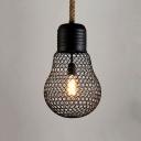 Industrial Hanging Pendant Light 9 Inch High 1 Light in Black