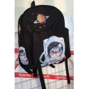 Lovely Cartoon Astronaut Cat Pattern Simple Retro Backpack