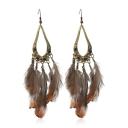 Tribal Style Retro Fashion Feather Embellished Earrings