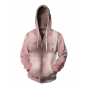 Hot Fashion Digital Hairy Chest Pattern Long Sleeve Zip Up Hoodie