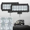 5D 7 Inch Off Road LED Light Bar 36W 30 Degree Spot Beam Car Light For Off Road, Truck, 4WD, BOAT, JEEP, Pack of 2