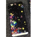 New Stylish Girls' Glitter Stars Printed Mobile Phone Case for iPhone