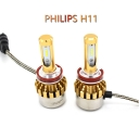 Philips P9 Car LED Headlight Bulbs H11 72W 7600LM 6000K LED, Pack of 2