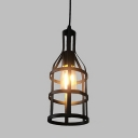 Industrial Mini-Pendant Light 11 Inch in Black for Barn or Indoor Lighting