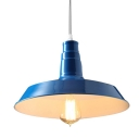 Blue 1 Light Industrial Pendant Lighting