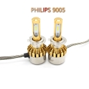 Philips P9 Car LED Headlight Bulbs 9005 72W 7600LM 6000K LED, Pack of 2
