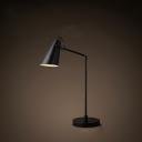 Black Metal Angle Shade Table Lamp
