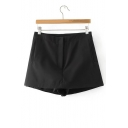 High Waist Basic Simple Plain Summer's Skort Shorts