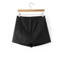 High Waist Basic Simple Plain Summer's Skort Shorts