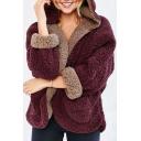 Winter's Fashion Warm Reversible Long Sleeve Hooded Fur Coat
