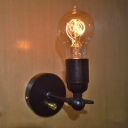 Industrial Retro Exposed Edison Bulb Style Wall Sconce Wall light, Black