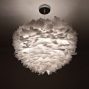 Feathers Ceiling Light 2 Lights