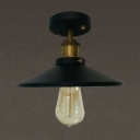 Antique Bronze LED Ceiling Light with Cone Shade