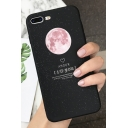 Simple Galaxy Moon Printed Shatter-Resistant Soft iPhone Case