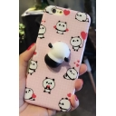 Cartoon Lovely Sweetheart Pandas Printed Soft Mobile Phone Case for iPhone