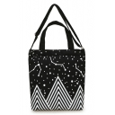 New Arrival Canvas Simple Galaxy Pattern Unisex Handbag