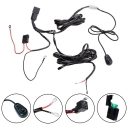 LED Light Bar Wiring Harness Kit 400W 12V 40A Fuse Relay ON/OFF Waterproof Switch 1 Lead 3 Meter Universal for Off Road ATV SUV Jeep Truck