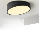 Round Cut LED Surface Mount Light Modern, 9.8 Inch
