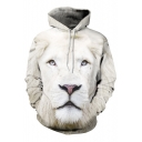 Hot Fashion 3D Lion Pattern Long Sleeve Casual Leisure Hoodie