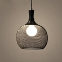 Industrial Hanging Pendant Light with Bowl Shade in Black