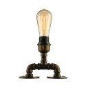 Industrial Loft Table Lamp in Black Finish, 10'' Height