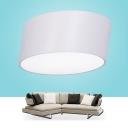 Lean White Flush Mount LED Drum, 20 Inch