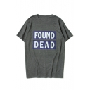 Loose FOUND DEAD Floral Printed Round Neck Short Sleeve Graphic Tee