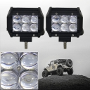5D 4 Inch Off Road LED Light Bar CREE LED 18W 30 Degree Spot Beam Car Light For Off Road, Truck, 4WD, BOAT, JEEP, Pack of 2