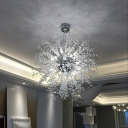 Crystal Beads Sputnik Pendant Light, 27.5 Inch