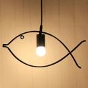 Fish LED Pendant Iron