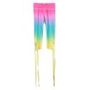 Hot Fashion Color Block Elastic Waist Ballet Bandage Sports Bodybuilding Capris Leggings