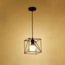 Industrial Mini Pendant Light with Nordic Style Metal Cage