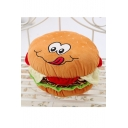 New Stylish Hamburger Design Lovely Cartoon Printed Comfort Toy Pillow