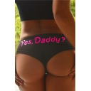 Hot Fashion Summer's Funny Letter Printed Sexy Tight Panties