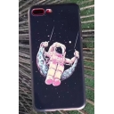 Cartoon Galaxy Swing Astronaut Pattern Fashion iPhone Case