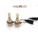 Philips P9 Car LED Headlight Bulbs H7 72W 7600LM 6000K LED, Pack of 2