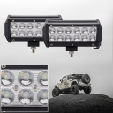 7 Inch Off Road LED Light Bar CREE LED 36W 30 Degree Spot Beam Car Light For Off Road, Truck, 4WD, BOAT, JEEP, Pack of 2