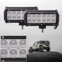 7 Inch Off Road LED Light Bar CREE LED 36W 60 Degree Flood Beam Car Light For Off Road Truck, 4WD, BOAT, JEEP, Pack of 2,